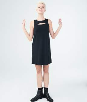 Aeropostale Solid High-Neck Swing Dress