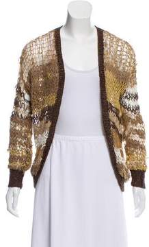 Rodarte Distressed Open Knit Cardigan