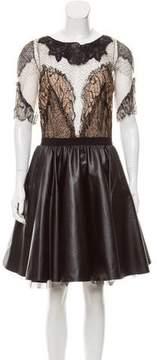 Amen Lace-Paneled Short Sleeve Dress w/ Tags
