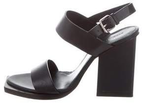 Jil Sander Leather Ankle Strap Sandals