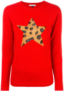 Bella Freud leopard-print star jumper