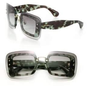 Miu Miu 67MM Square Overlay Sunglasses
