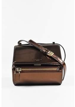 Givenchy Pre-owned Bronze Leather mini Pandora Box Crossbody Bag.