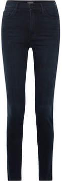 Mother The Super Swooner High-rise Skinny Jeans - Dark denim