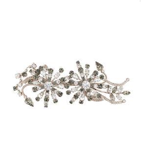 Alberta Ferretti floral rhinestone brooch