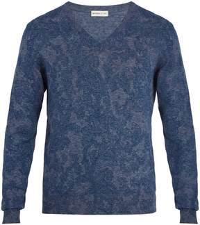 Etro Paisley-jacquard cotton sweater