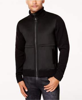 GUESS Men's Neoprene Zip-Front Jacket