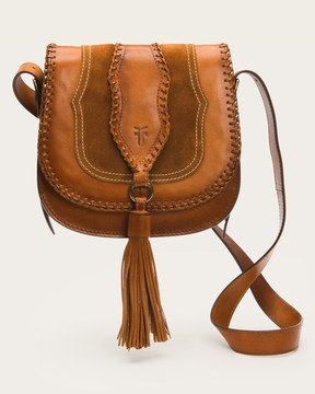 Frye Whipstich and Tassel Saddle