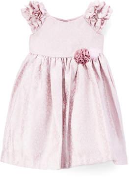 Laura Ashley Lilac & Silver A-Line Dress - Infant