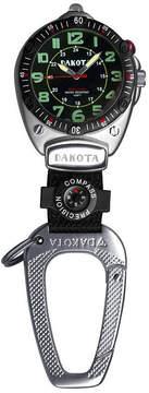 Dakota Big Face Carabiner Clip Watch, Black 88522