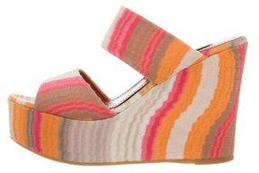 Missoni Patterned Wedge Slide Sandals