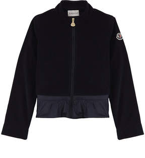 Moncler Frilled velour tracksuit jacket 4-14 years