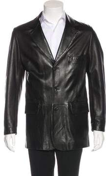 Salvatore Ferragamo Three-Button Leather Jacket
