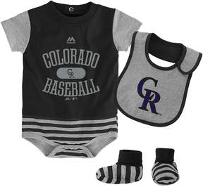Majestic Baby Colorado Rockies Property 3-Piece Bodysuit Set
