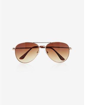 Express gold aviator sunglasses