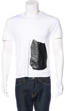 Loewe Vegan Leather-Trimmed T-Shirt