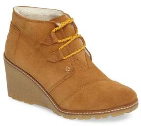 Toms Desert Faux Fur Lined Wedge Bootie