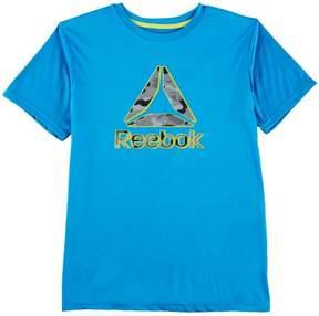 Reebok Big Boys Heather Camo Logo T-Shirt