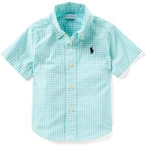 Ralph Lauren Baby Boys 6-24 Months Button-Down Gingham Shirt