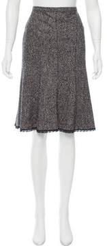 Cacharel Wool-Blend Knee-Length Skirt