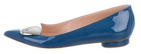 Rupert Sanderson Patent Pointed-Toe Flats