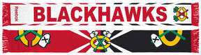 Reebok adidas Chicago Blackhawks Jacquard Wordmark Scarf