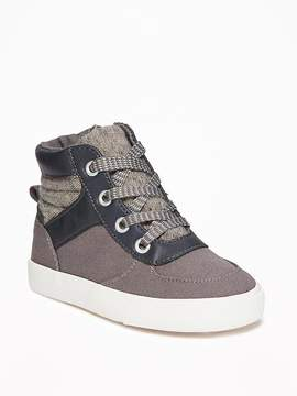 Old Navy Mixed-Fabric High-Tops for Toddler Boys
