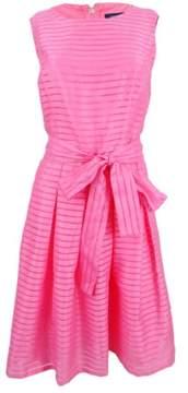 Tommy Hilfiger Women's Illusion-Striped Pleated Dress