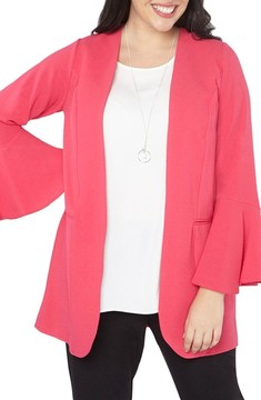 Evans Plus Size Women's Ruffle Sleeve Jacket
