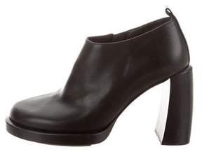 Ann Demeulemeester Leather Platform Booties
