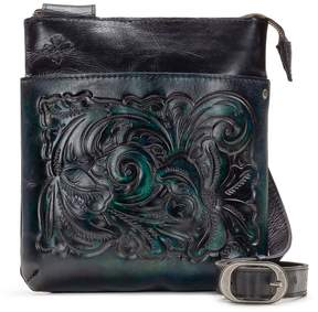 Patricia Nash Burnished Tooled Collection Stripes Cross-Body Bag