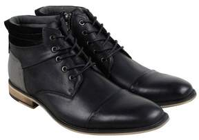 Steve Madden Javier Black Leather Mens Casual Dress Chukka Boots
