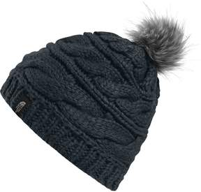 The North Face Triple Cable Fur Pom Beanie - Women's