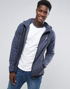 Hollister Full Zip Hoodie Athletic Icon Logo in Navy