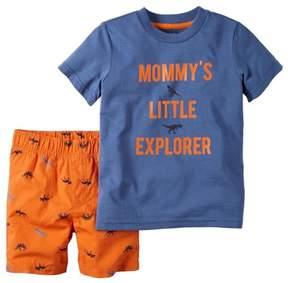 Carter's 2 Piece Graphic Set, Mommys Explorer, 3 Months