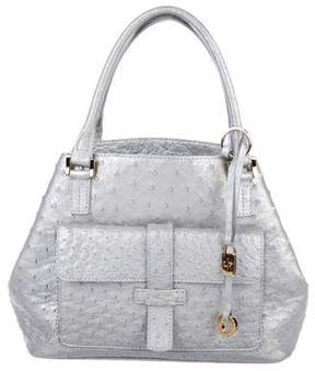 Loro Piana Ostrich Mini Globe Bag