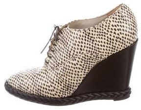 Jason Wu Snakeskin Wedge Booties