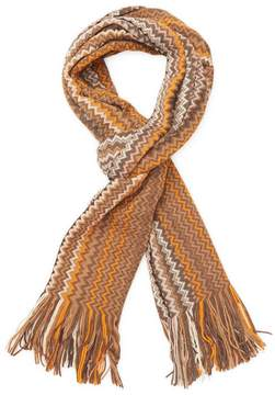 Missoni Men's Chevron Fringe Wool Long Scarf