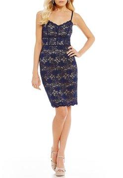 B. Darlin Spaghetti-Strap Lace Sheath Dress