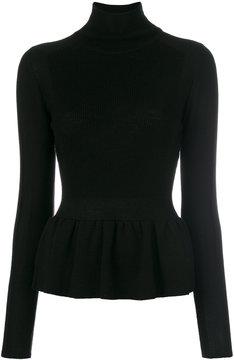 Emporio Armani peplum turtle neck sweater