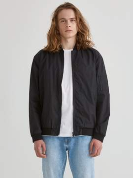 Frank and Oak Classic Ossington Nylon Bomber in Black