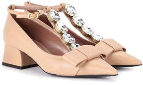 Marni Exclusive to mytheresa.com – embellished leather pumps
