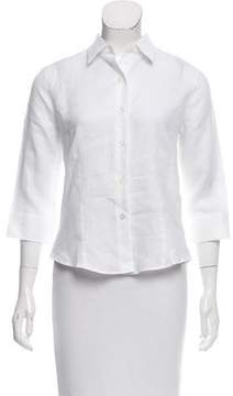 Amina Rubinacci Bianco Linen Button-Up w/ Tags