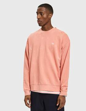 Obey Fade Pigment Crew in Coral