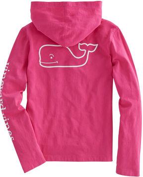 Vineyard Vines Girls Long-Sleeve Whale Hoodie Pocket Tee