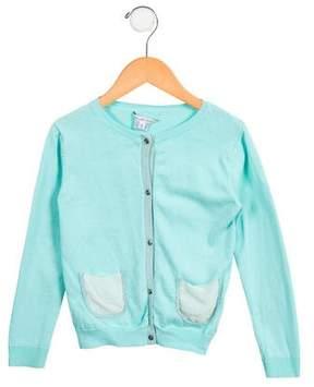 Little Marc Jacobs Girls' Knit Glitter-Trimmed Cardigan
