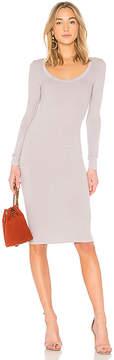 Enza Costa Scoop Long Sleeve Dress