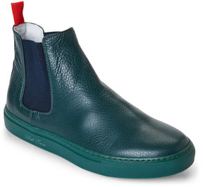 Del Toro Green Leather Chelsea Sneakers