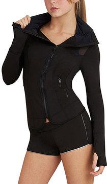 Capezio Black Zip-Up Jacket - Women