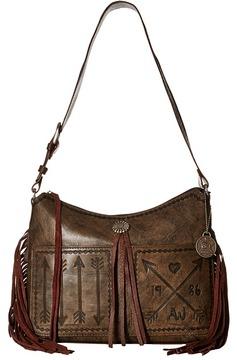 American West Cross My Heart Zip Top Shoulder Bag Shoulder Handbags